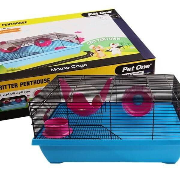 Pet One Critter Penthouse Mouse Wire Cage